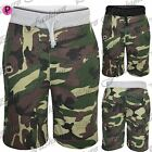 Mens Casual Combat Camo Camouflage Military Army 3/4 Jog Jogging Shorts Pants