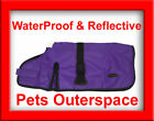 Purple WaterProof Reflective Dog Rug Ripstop Coat Lge - XL 60, 65, 70, 75cm Rain