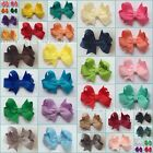 Baby/Girls Handmade Small 2 inch Butterfly Hair Bow Clip bobble **40 COLOURS**