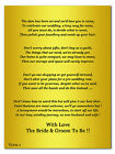 Wedding Poem Cards For Invites Asking For Money Cash Or Vouchers Golden Ticket 1