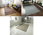 Recycled Silk Floor Rug with Contemporary Modern Damask Effect Hand Tufted Woven