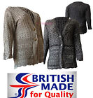 New Ladies Womens 2 Button Open Pointelle Cable Knitted Twist Plus Size Cardigan