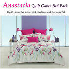Anastacia Floral Spring Quilt Cover Set + Eurocases + Cushions - ALL SIZES