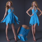 Sexy Halter Design Formal Evening Party Cocktail Short Mini Prom Dress Ball Gown