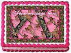 PINK CAMO TREE CAMOUFLAGE  Cake Edible cake topper decoration