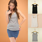 Fashion Women Lady Low-Cut Iron Wing Top Vest