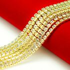 50cm 500cm Alloy Gold Plated Claw Cup Chain 3mm Crystal Rhinestones DIY Marerial