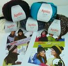 BEANIE HAT CROCHET KIT - Katia Cap Yarn - 80gram ball + Pattern - Choose Colour