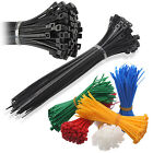 ASSORTED CABLE TIES - BLUE BLACK GREEN YELLOW RED SILVER WHITE ZIP TIE BASES