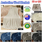 Machine Washable - AUSTRALIAN WOOL BLANKET - Single OR Queen
