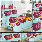 Duvet Quilt Cover 4PC or 3PC PillowCase+Fitted Sheet Single Double Gingham Heart