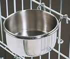 Stainless Steel Cage Coop Cup Bird Cat Dog Puppy Food Water Bowl pet travel