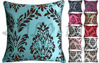 """18""""x18"""" 45x45cm Flock Arena Damask Print Piped Luxury Quality Cushion Cover"""