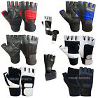 WEIGHT LIFTING GLOVES TRAINING PADDED LEATHER BODY BUILDING SPORTS GYM FITNESS