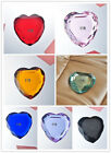 Fashion Heart Shaped Art Crystal Glass Paperweight Design With Controlled Bubble