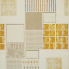 Beige & Gold Modern PVC Vinyl Wipeclean Tablecloth in Rectangle, Square & Round