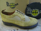 Dr Martens Shreeves Tan Beige Leather Canvas Mens Lace Up Brogue Shoe