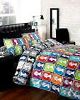 Postage Stamp Multi Duvet Set Single Double King