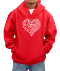 Tribal Love Heart personalised diamante hood sweatshirt -ideal girl gift present