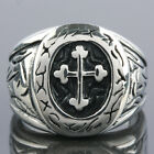 SZ 7-12 Biker Heavy Stainless Steel IRON CROSS Crocifix Men's Boy's Finger Ring