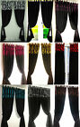 CURTAINS PAIR OF LINED FLOCK DAMASK EYELET RINGTOP 9 COLOURS BLACK FLOCK