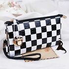 Women's Wallet Black & White Squares Handbag Wrist Bag Envelope Bag Clutch Bag