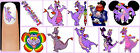 60x FIGMENT Nail Art Decals + Free Gems Disney Of Imagination Purple Dragon