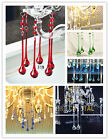 1pc Large Glass Chandelier Crystals Prisms Hanging Water Drops Lamp Part 30*15#