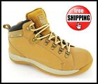 SAFETY NEW STEEL TOE CAP MENS SAND BLACK WORK TRAINER HIKING BOOT SIZE 6 -12