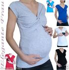 3 in1 Stillshirt Umstands Shirt KURZARM,Tunika Stilltop Stillbluse für Leggings