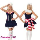Ladies Sailor Navy Blue Costume Uniform Pin Up 50s Rockabilly Moon Fancy Dress