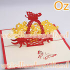 Butterfly Basket 3D Card, Valentine's Day Christmas Card Wedding Invitation
