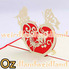 Butterfly & Birds 3D Card, Valentine's Day Christmas Card Wedding Invitation