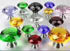 NEW Diamond Crystal Glass Door Knob Bedroom Wardrobe Drawer Furniture Handle