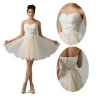 GK Gorgeous Ladies Strapless Wedding Bridesmaid Evening Short JS Dress Size 6~20