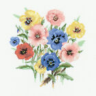 Heritage Crafts Pansy Posy Counted Cross Stitch Kit