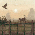 Heritage Crafts Lucky Escape Silhouette Counted Cross Stitch Kit