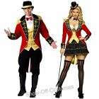RINGMASTER MENS LADIES CIRCUS THEMED FANCY DRESS COSTUMES SIZES SMALL-MEDIUM