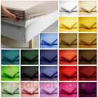 Luxury 180 Thread PollyCotton Fitted Sheet Single Double King SuperKing & 4 Feet