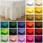 Luxury 180 Thread PollyCotton Valance Fitted Sheet All Sizes Available