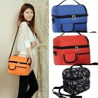 Useful Two-layer Lunch Travel Insulated Cooler Bag Shoulder Picnic Strap Tote