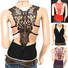Sexiest Ruching Embro V-Shape Back Boho Tank Top