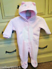 BABY PINK & WHITE CAT ONESIE ROPER SUIT SLEEP SUIT WELL KNOW BRAND WITH TAGS