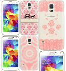 for Samsung Galaxy S5 -Hard Plastic Slim Fitted PINK Transparent Skin Cover Case