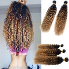 """6A 100% Brazilian Ombre Virgin Hair Curly Wave Human Hair,50g/pc,12""""-30""""Hot sell"""