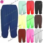 Womens Ladies Harem Baggy Loose Plain 3/4 Ali Baba Cuffed Leggings Trouser Pants