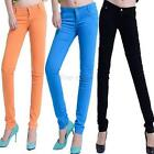 Trendy Women Candy Stretch Pencil Pants Casual Slim Skinny Jeans Trousers Hot