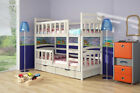 Emily Brand New WOODEN Solid Wood Bunk Bed with Mattresses & Storage Free P&P