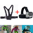Chest Harness Mount + Head Belt Strap For GoPro Hero 2 3 3+ 4 Camera Accessories