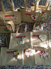 Christmas Jute Gift Bag with Wooden Tag - 10p extra p&p for each additional (UK)